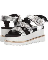Suecomma Bonnie - Jewel Buckle Platform Sandals (silver) Women's Sandals - Lyst