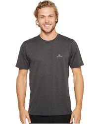 Rip Curl - Search Series Short Sleeve (black) Men's Swimwear - Lyst