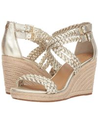 Tory Burch - Bailey 2 90mm Ankle Strap Wedge Espadrille (spark Gold) Women's Shoes - Lyst
