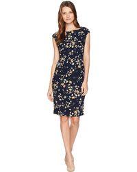 Chaps - Kenna- Sunland Floral (navy) Women's Dress - Lyst
