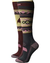 Burton - Performance Lightweight 2-pack (port Royal) Women's Crew Cut Socks Shoes - Lyst