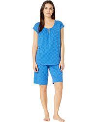 623461291fb Karen Neuburger - Petite Cosmopolitan Short Sleeve Bermuda Set  (dot chambray) Women s Pajama