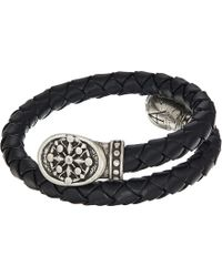 ALEX AND ANI - Compass Braided Leather Wrap Bracelet - Lyst