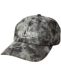 84c5354db4e Huf - Serif Stack Frost Wash Curved Visor Hat (black) Casual Visor - Lyst