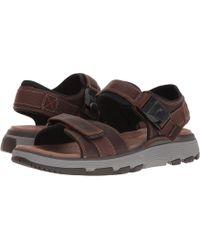 085cb978fda8 Clarks - Untrek Part (dark Tan Leather) Men s Sandals - Lyst