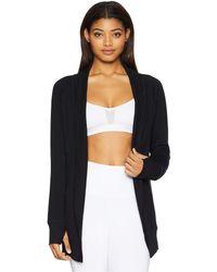 Jockey Active - Cozy Cardigan (deep Black) Women's Sweater - Lyst