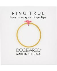 Dogeared | Thin Flat Band Ring | Lyst