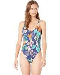 02cde566218 Hobie - Hibiscus Jungle High Leg One-piece (multi) Women's Swimsuits One  Piece