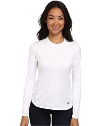 Hot Chillys - Peach Solid Crewneck (white) Women's Long Sleeve Pullover - Lyst