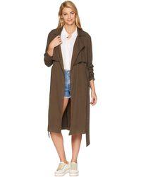Michael Stars - Stretch Twill Trench Coat (loden) Women's Coat - Lyst