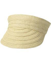 Lauren by Ralph Lauren - Packable Straw Visor Hat - Lyst