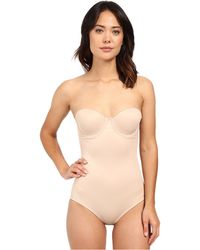 Miraclesuit - Shape Away Extra Firm Strapless Bodysuit With Back Magic (nude) Women's Underwear - Lyst