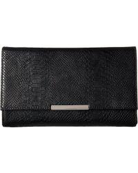 Jessica Mcclintock - Nora Metallic Snake Large Envelope Clutch (black) Clutch Handbags - Lyst