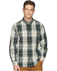Carhartt - Essential Plaid Button Down Long Sleeve Shirt (elm) Men's Long Sleeve Button Up - Lyst