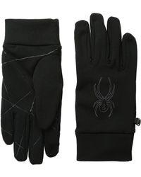 Spyder - Stretch Fleece Conduct Glove (black 1) Ski Gloves - Lyst