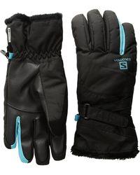 Yves Salomon - Force Dry W (black/blue Bird) Gore-tex Gloves - Lyst