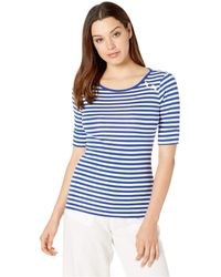 Lauren by Ralph Lauren - Striped Cotton Top - Lyst
