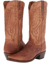 Lucchese - M1008.54 (tan Mad Dog Goat) Cowboy Boots - Lyst