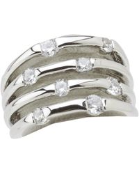 Guess - 89151420 (crystal/silver) Ring - Lyst