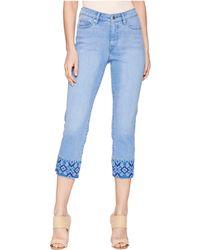 Lauren by Ralph Lauren - Embroidered Straight Crop Jeans - Lyst