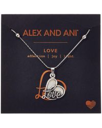 ALEX AND ANI - Path Of Symbols - Love Iv Swarovski(r) Expandable Necklace W/ Swarovski(r) Crystals (rafaelian Silver) Necklace - Lyst