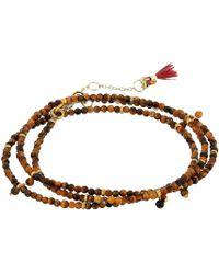 Shashi - Rasheeda Wrap Bracelet (silver Pyrite) Bracelet - Lyst