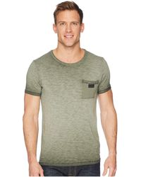 Scotch & Soda - Oil-washed Tee With Cut Sewn Styling (army) Men's T Shirt - Lyst