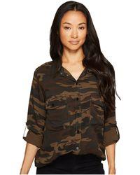 Sanctuary - Boyfriend Shirt (camp Camo) Women's Long Sleeve Button Up - Lyst