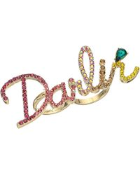 Betsey Johnson - Pave Darlin Ring - Lyst