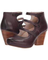 4cd9545a2ab Dansko - Marlene (wine Burnished Calf) Women s Shoes - Lyst