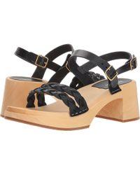 Swedish Hasbeens - Tanja (black) Women s Sandals - Lyst 5648ccb8f