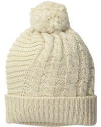 e357248bc65 Polo Ralph Lauren - Traveling Cable Hat (camel Melange) Beanies - Lyst