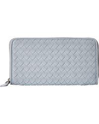 87260487c228 Bottega Veneta - Intrecciato Tonal Zip Around Wallet (artic) Wallet  Handbags - Lyst