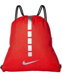 d4afa0368b Nike - Hoops Elite Gymsack - 2.0 (university Red black metallic Cool Grey
