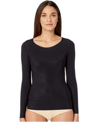 Commando - Whisper Long Sleeve Crew Neck Wls01 (black) Women's T Shirt - Lyst