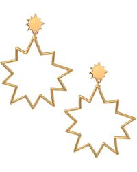 Rebecca Minkoff - Open Cut Pow Earrings (gold) Earring - Lyst