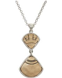 "The Sak - Double Fan Pendant 16"" Necklace - Lyst"