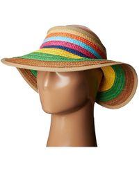 San Diego Hat Company - Pbv007 Paper Braid Adjustable Roll Up Visor With Ribbon Edge (brights) Casual Visor - Lyst