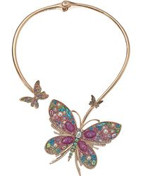 Betsey Johnson - Butterfly Hinge Collar Necklace - Lyst