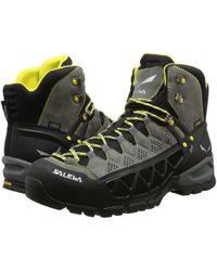Salewa - Alp Flow Mid Gtx (smoke/yellow) Men's Shoes - Lyst