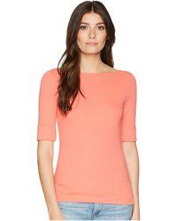 Lauren by Ralph Lauren - Cotton Boat Neck T-shirt (calla Lily) Women's T Shirt - Lyst