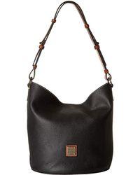 41edf303448 Dooney   Bourke - Pebble Thea Feedbag (french Blue tan Trim) Handbags -