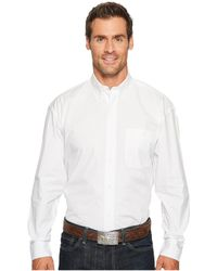 Wrangler - George Strait Shirt Solid (white) Men's Clothing - Lyst