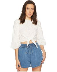 Bishop + Young - Knit Back Embroidered Top - Lyst