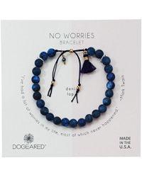 Dogeared - No Worries Bracelet, Matte Lavender Jasper Bead Stone Bracelet With Nylon Pull Cord (gold Dipped) Bracelet - Lyst