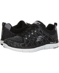 Skechers Flex Advantage 3.0 Jection Sneaker(Men's) -Black/White Free Shipping Websites Tcztv4