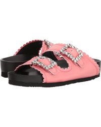 Suecomma Bonnie - Jewel Buckles Flat Sandals (pink) Women's Sandals - Lyst