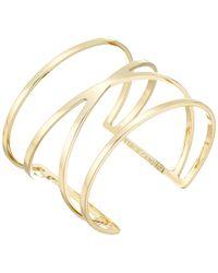 Vince Camuto - Double V Cuff Bracelet (silver) Bracelet - Lyst