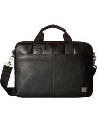 Knomo - Brompton Classic Stanford Slim Brief (black) Briefcase Bags - Lyst