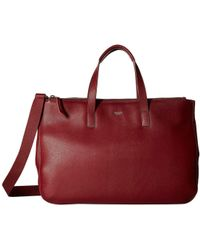 Knomo - Mayfair Luxe Derby Tote (burgundy) Tote Handbags - Lyst be410da5a90f4